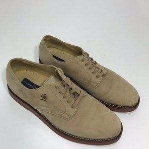 Tommy Hilfiger Tan Suede Leather Lace Up Oxford 11